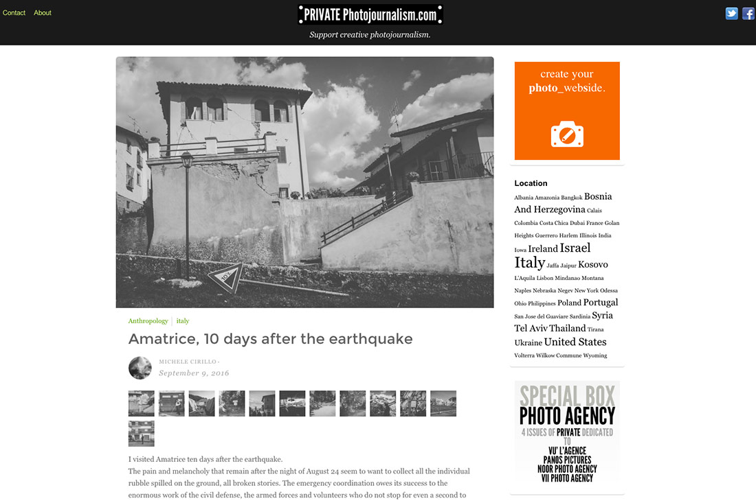 10 days after the earthquake - Private Photojournalism - Michele Cirillo